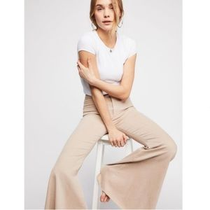 Free People Jeans - Free People Float on Flares in Cream NEW